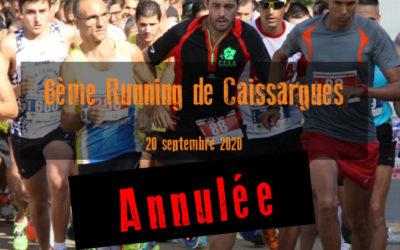 Annulation de l'édition 2020 du Running.