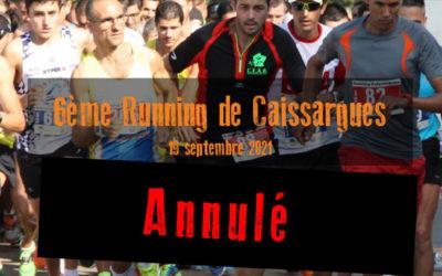 Annulation du Running de Caissargues 2021